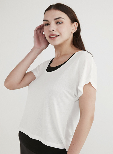 Penti Kadın Beyaz Basic Double  Tişört PHUS5O0O21IY Beyaz